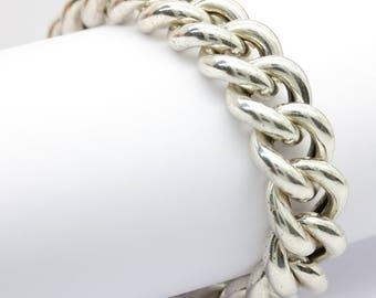 Chunky vintage silver chain bracelet/chunky bracelet/silver link bracelet/vintage bracelet/heavy bracelet/statement bracelet/minimalist