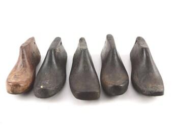 5 Vintage Cobbler Shoe Form Molds