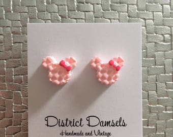 Minnie Mouse ice cream sandwich earrings