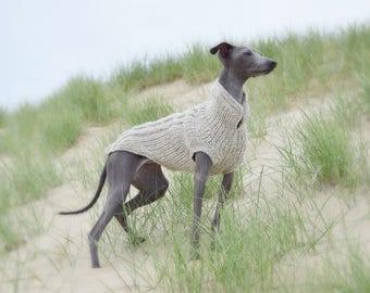 Italian Greyhound Dog sweaters - Light Grey| Italian Greyhound Clothing | Italian Greyhound Sweaters| iggy clothing | iggy apparel