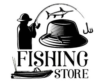 Fishing Logo #8 Fisherman Angling Fish Hook Fresh Water Hunting Tournament Competition Contest .SVG .EPS .PNG Vector Cricut Cut Cutting File