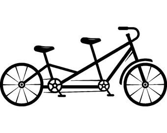 Tandem bike clipart | Etsy