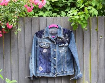Redesigned blue denim jacket
