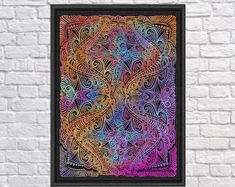 On winding rainbow of time, Digital Print, Bohemian, INSTANT DOWNLOAD, Digital Download, Gallah Wall Art Digital
