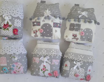 small home decor fabric gray 13 cm by 12 cm