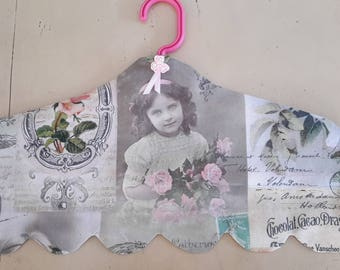 cover wrap hanger shabby postcard thick girl and flowers way TILDA fabric