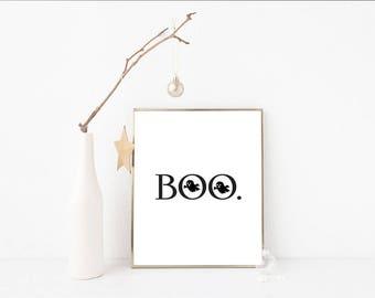 Boo Halloween A4 Print