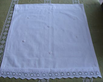 Curtain Panel soared flowers 100% cotton eyelet lace