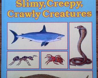 Joe Kaufman's Slimy, Creepy, Crawly Creatures, a golden book, Vintage 1985