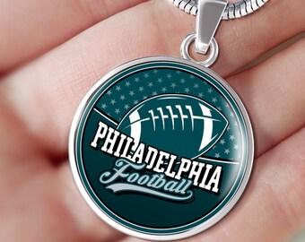 Round Shaped Philadelphia 2018 Champions Pendant Necklace