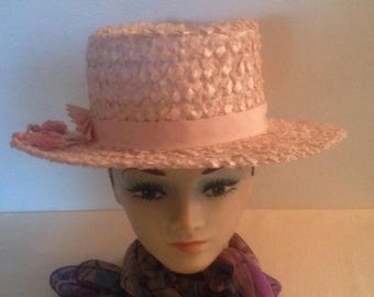 On Sale Gorgeous Pink Woven Hat
