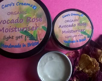 Avocado Rose Organic Face Cream