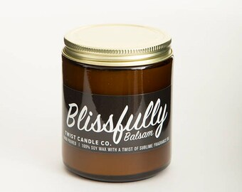 100% Soy Wax Candle — Blissfully Balsam 7oz