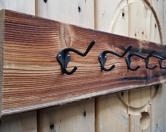 One of a Kind Rustic Coat Rack ~ Rustic Wall Decor ~ Coat Hooks ~ Cottage Chic ~ Rustic Home Decor ~ Barn Wood Coat Rack