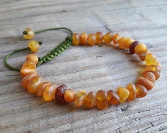 Raw unpolished amber bracelet for adults organic raw amber bracelet amber jewelry success energy bracelet sacral chakra bracelet amber gift