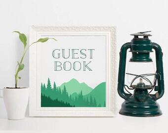 Mountains Guest Book Sign, Mountain Wedding Guest Book Sign, Wedding Sign In Book, Guest Book Alternative, Mountain Wedding Sign