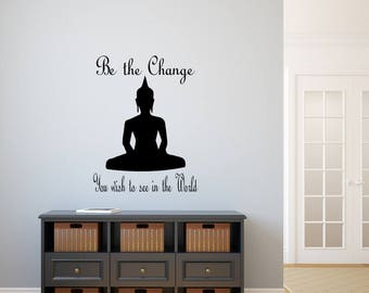 Buddha Wall Decor buddha wall decal | etsy
