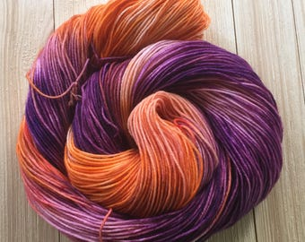 Hand dyed yarn Sock weight 463 yards 4ply