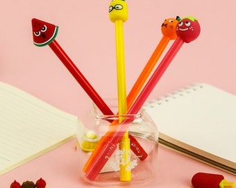 Cute Fruit Pens - Gel Pen, Ink Pen, Stationery