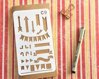 Bullet Journal Stencil #C9 - Planner, Journal, Craft, Scrapbooking, Decoration