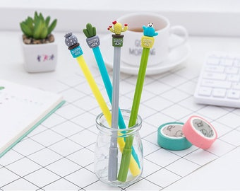 Lovely Cactus Pens - Gel Pen, Ink Pen, Stationery