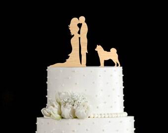 Couple silhouette Husky wedding topper,Couple Kissing topper Husky,Wedding topper Husky,Husky cake topper,Husky,Husky art,Husky mom,5922017