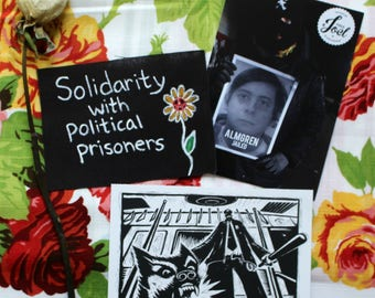 Political Prisoner Solidarity Patch + Postcard