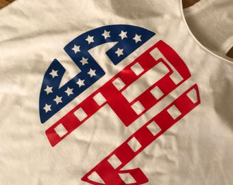 Monogram Fourth of July Tank Tops