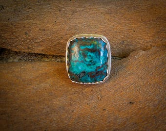 Azurite Sterling Silver Statement Ring