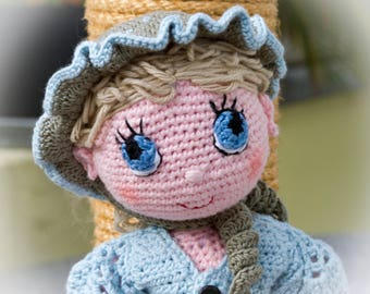 Amandine doll with blue eyes