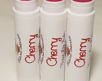 Cherry Flavoured Tinted Lip Balm, Vegetarian, 4.3g tube