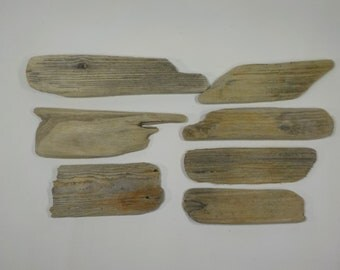 7 Lightweight Driftwood Pieces 4.9-8.6''/12-22 cm Small Driftwood Signs,Flat Driftwood Sign Cards,Driftwood Name Tags #49A