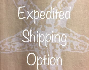 Expedited Shipping Add On Option for Envelopes