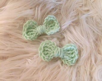Crochet Hair Bows (x2)