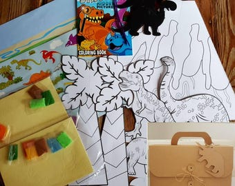 Dinosaur Arts and Crafts Activity Travel Gift Set Pack