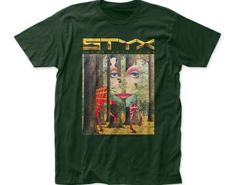 Styx The Grand Illusion Men's Soft Fitted 30/1 Cotton Tee (STYX01) Forest Green