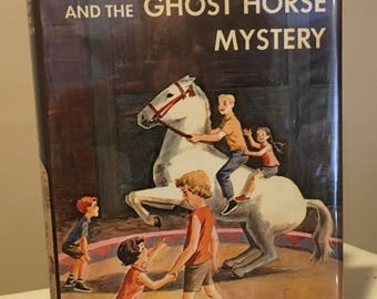 The Happy Hollisters and the Ghost Horse Mystery by Jerry West in Dust Jacket