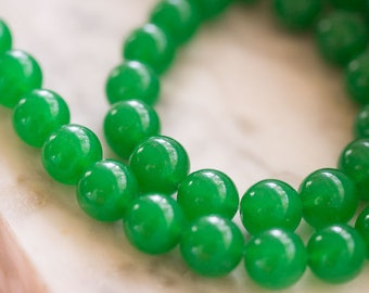 Green Malaysia Jade Smooth Round Beads 15 inches 12mm