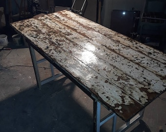 Large unique  table made from old doors