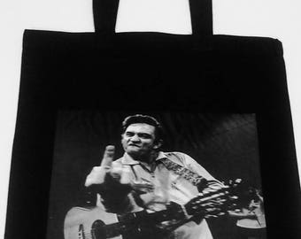 Johnny Cash Tote Bag, Johhny Cash, Johnny Cash Large Tote, Johnny Cash Purse, Johnny Cash hand bag, Mama Tried, Country Music Tote Bag, Tote