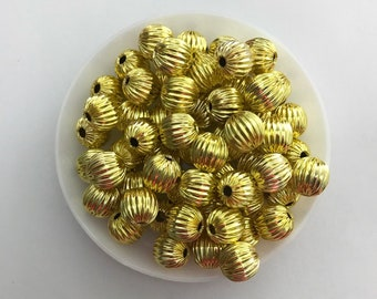Alloy gold spacer bead 8mm
