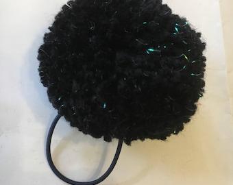 Large Sparkly Pom Pom hair tie