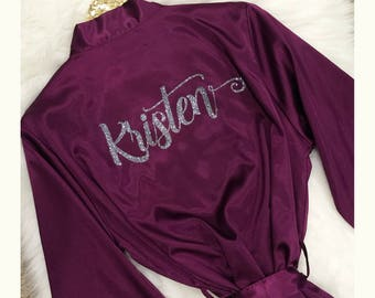 Personalized Bridesmaid Robes, Bride Robe, Bridal Robes, Getting Ready Robe, Bridal Shower  Gift, Wedding Robe, Bridesmaid Gift