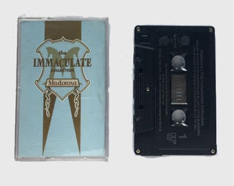 Vintage Madonna Immaculate Collection Cassette Tape 1990 90s Music