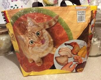 Orange Tabby Cat Market Tote Bag