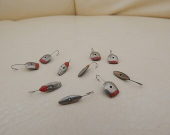 Set of 10 vintage fishing lure, ice fishing lere, fishing spinners, vintage fishing lure, vintage fishing rod, vintage fishing reel, pole