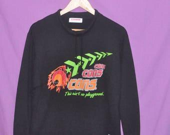 Vintage 90s  CONVERSE Basketball Sweatshirt Sweater Medium Size