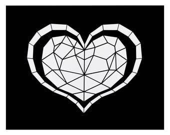 Heart Container stencil - The Legend of Zelda