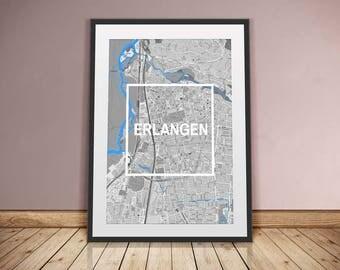 Erlangen-framed City-digital printing