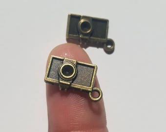 Bronze Camera Alloy Charm